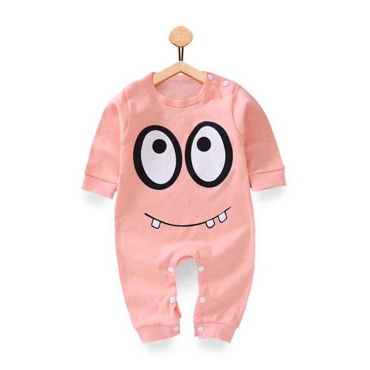 Autumn Baby Clothes Newborn Cartoon big eyes Baby girls boys clothing Rompers Infant cotton Long Sleeve Jumpsuits baby Clothes mother nest 3sets lot wholesale autumn toddle girl long sleeve baby clothing one piece boys baby pajamas infant clothes rompers