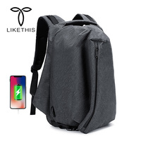 15.6inch Laptop Backpack Male USB Business Leisure Anti theft Backpack for Men Fashion Waterproof Travel Backpacks Mochila 2018