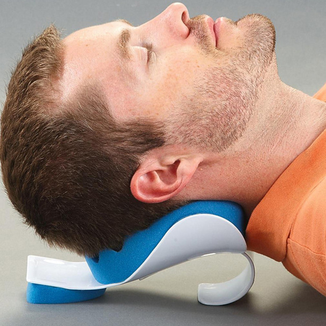 Travel Neck Pillow Theraputic Support Tension Reliever Neck Shoulder Relaxer Massager Pillow Soft Sponge Releases muscle Pillow 5