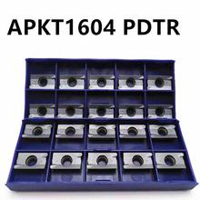 Tungsten Carbide APKT1604 PDTR LT30 LAMINA CNC Blade Carbide Milling Insert for Indexable Lathe Tools цена