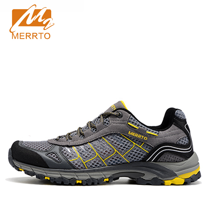 ФОТО 2017 Merrto Men Walking Shoes Breathable Sneaker Lightweight Outdoor Shoes For Men Free Shipping MT18588
