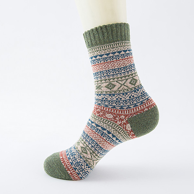 Winter Thick Warm Stripe Wool Socks Casual Calcetines Hombre Sock Business Male Socks For Man Drop Shipping