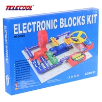 W 5889 Circuits Block Smart Electronic Kit Integrated Circuit Building Blocks Experiments Educational Fun Science Kids