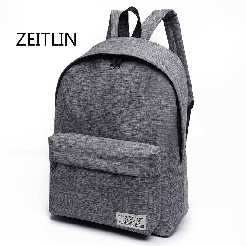 ZEITLIN Men Women Stylish Daily Backpack Canvas Laptop Summer Backpack Travel Bag School Bags for Teenagers Suitcase M0187 new gravity falls backpack casual backpacks teenagers school bag men women s student school bags travel shoulder bag laptop bags