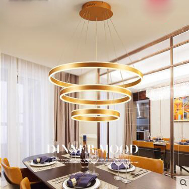 Lights & Lighting Postmodern Chandelier Creative Personality Modern Minimalist Dining Table Restaurant Chandelier Three Round Home Dining Room Led Clear And Distinctive