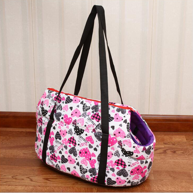 Pet Bag Dog Carrier Bag for Dogs Cats Print Small Dog Puppy Teddy Cat Outdoor Bag Carrier Size S M High Quality