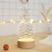 High quality Lovely Pineapple Shape 3D Office Decoration Lamp and Festival Gift Room Decoration Night Light