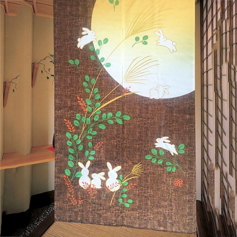 Japanese Noren Cute Running Rabbits Embellished 85cmx150cm Kawaii Door  Curtain 2017 In Curtains From Home U0026 Garden On Aliexpress.com   Alibaba  Group