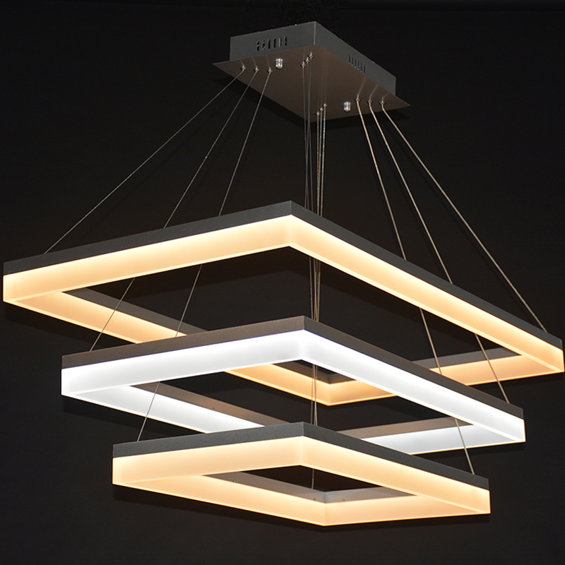 Ring LED acrylic Pendant Lights lamp simple rectangular modern living room bedroom dining room hotel bar Pendant lamp FG159 lo10 [ygfeel] pendant lights modern bedroom pendant lamp dining room living room decoration lighting hotel room light e27 ac90 260v