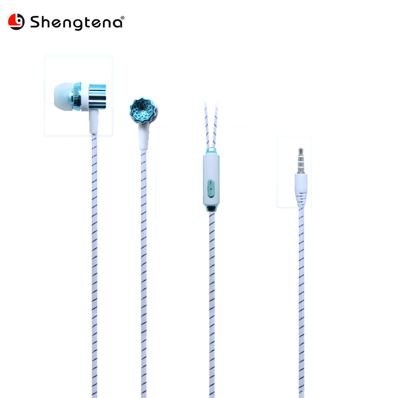 Wire Earphone With 3.5MM Microphone Wired Magnetic Gaming Headset Stereo Bass Earbuds Co ...