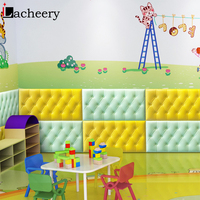 4PCS PE Foam 3D Wall Stickers Kids Room Safety Protection Home Decor Self adhesive Wallpaper for Living Room Wall Decor Decals