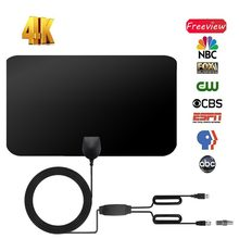 clear 800 Miles Indoor Digital HDTV Antenna TV VHF UHF With Amplifier DVB-T/T2 isdb-tb cable tv Aerial Receiver satellite dish(China)