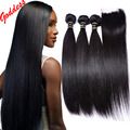 7A Brazilian Virgin Hair With Closure Brazilian Straight Hair With Closure 3 bundles with closure Lace Human Hair With Closure