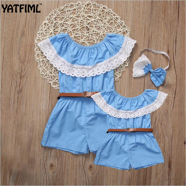cc98f56822c YATFIML mama and daughter matching family outfits mother daughter dresses matching  jumpsuits mom and me clothes Children s gift