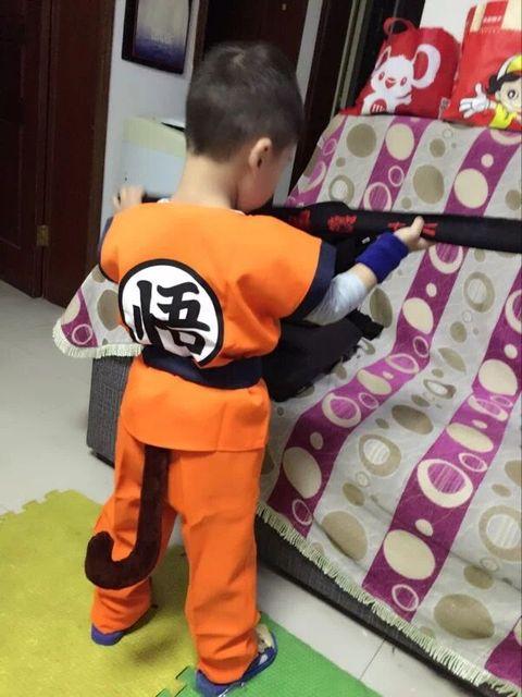 Childrenu0027s Anime Dragon Ball Z Monkey Cosplay Costumes Boys Son Goku Costume Kids Halloween Japanese Costume & Childrenu0027s Anime Dragon Ball Z Monkey Cosplay Costumes Boys Son Goku ...