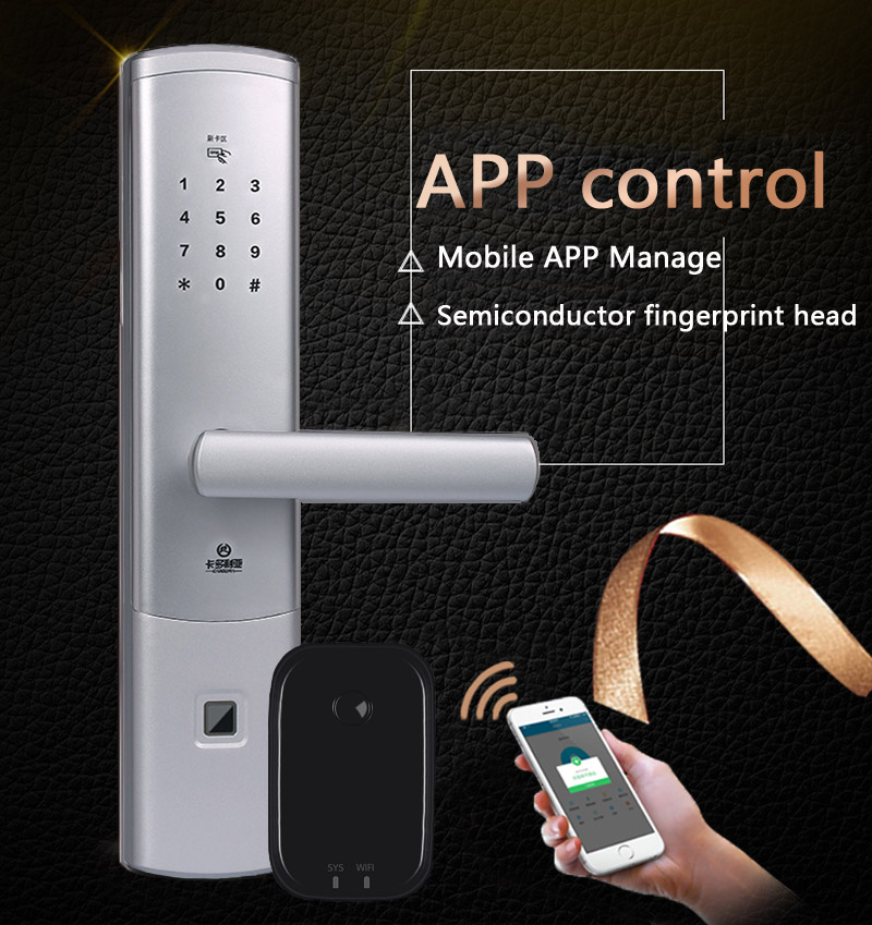 Responsible Bluetooth Gateway Smart Doorlock Remote Control App Locks Fingerprint Passcode Lock Anti-theft Door Slivery Electronic Locks M6