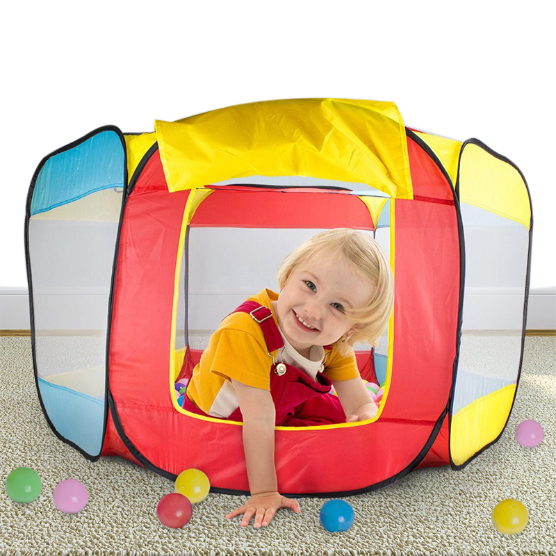 Kids Pop-up Tent Playhouse Outdoor Fun Sports Folding Ball Pit Hideaway Tent Play Hut Tent for Kids Play House
