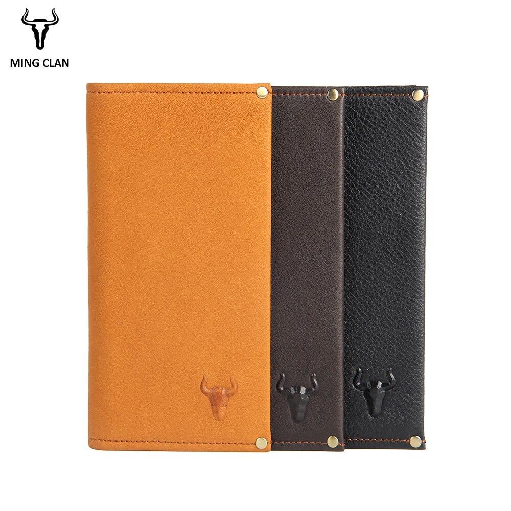 Men Wallet Genuine Leather Long Clutch Wallets For Women Bifold Leather Wallet Men Slim Purse Fashion Male Coin Pocket Wallets