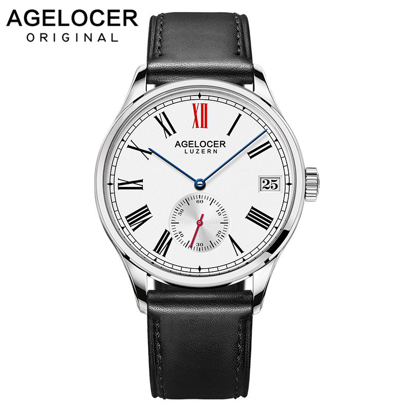 Montre Antique hommes Sport montres Date heures cadran en acier véritable bracelet en cuir horloge Relogio Masculino fossiler montre pour montre hommes