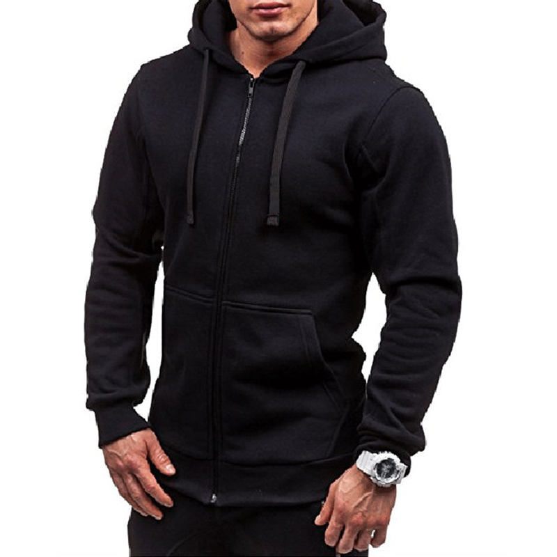 2019 Europe American new fashion men hoodies solid color full sleeved loose casual sweatshirt pocket cardigan men clothes