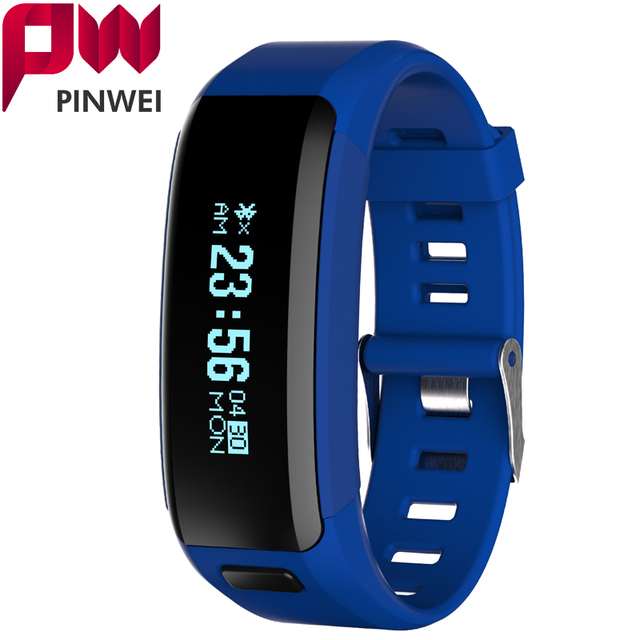 PINWEI Waterproof Smartband F1 Wristbands Sports Intelligent Bracelet With Mobile Phone Calls Heart Rate Monitor for IOS Android
