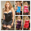 Europe and United States foreign trade women's lingerie exotic sexy black garter nightgown large fat nightgown wholesale appeal