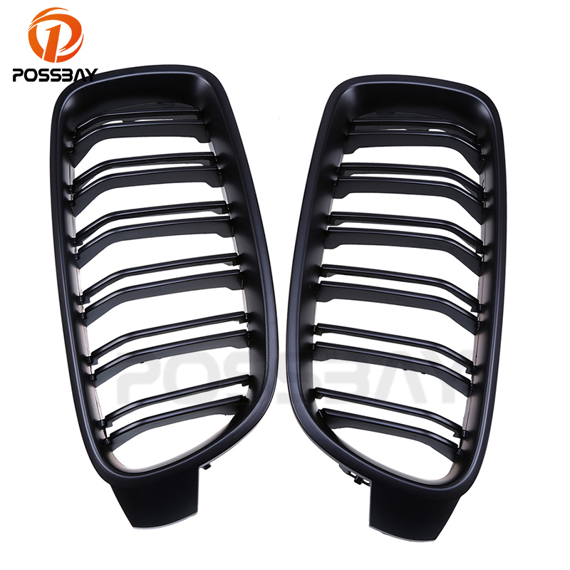 POSSBAY  25% OFF High Quality Matte Black Front Kidney Sport Grilles Grills For BMW 3 Series F31 Touring 2012 2017 Car styling|sport grill|grill for bmw|front grille for bmw - title=