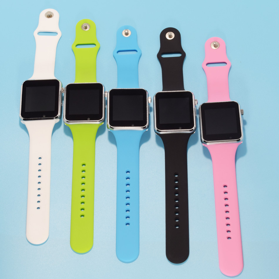 NEW bluetooth smart watch for android phone support SIM men women sport wristwatch for hua wei Silicone strap pk DZ09 GT08 A1