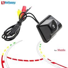 HaiSunny интеллектуальная динамическая траектория треков реверсивная резервная камера заднего вида для Mazda 2011 2012 2013 CX-5 CX-7 CX-9 Mazda 6