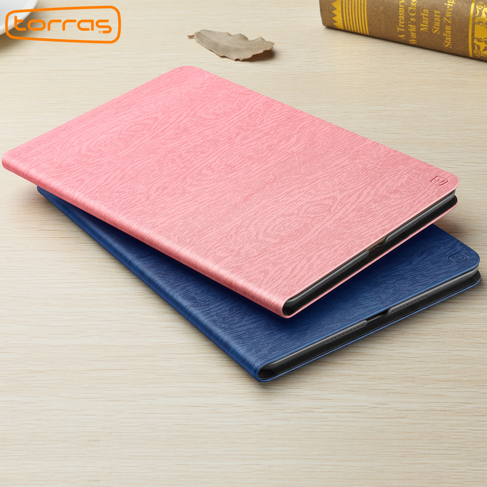 TORRAS Leather Case For New iPad 2017 9.7 inch Shockproof Folio Stand Cover 9.7 funda For iPad 2017 Smart Cover a1822 Luxury