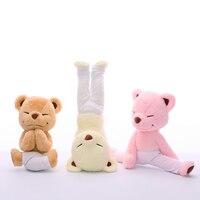 GGS Yoga Ayı Peluş Oyuncak Yaratıcı Sevimli Yoga Ayı Dolması bebek Yumuşak Konfor Bebek Oyuncakları Çocuklar Için Doğum Günü Hediye Çocuk kız arkadaşı