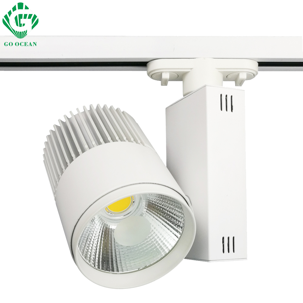LED Track Light 30W COB Ceiling Rail lights For Pendant Kitchen Clothes Shop Shoes Store Equal 300W Halogen Lamps Spot Lighting led track light50wled exhibition hall cob track light to shoot the light clothing store to shoot the light window
