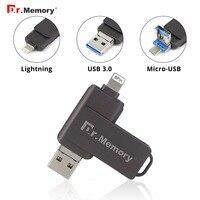 Dr. Memory Usb Memory 3.0 Metal Usb Flash Drive 3 in 1 Usb Flash Disk 4GB 8GB 16GB 32GB 64GB 128GB Boyfriend Gift Flash Memory
