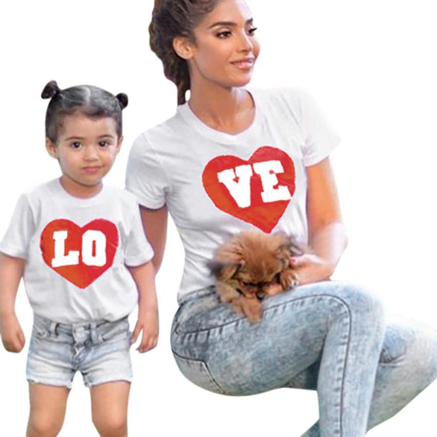 Mooistar2 #4005 «Мама и я» для маленьких мальчиков и девочек короткий рукав футболки с надписями блузка семейная одежда ...