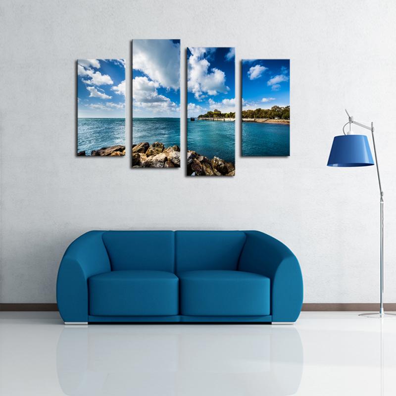 barato marcos de la pared paneles hd impresin de la lona pintura del paisaje