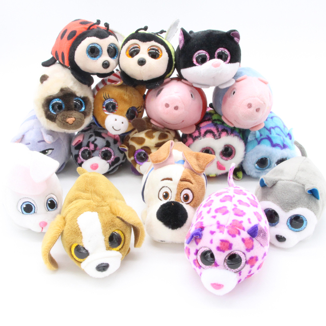 aa0dff9adcc Limit Sale 1pcs Ty Beanie Boos Original Big Eyes 8cm TSUM TSUM Dog Cats  Pigs Pets Plush Dolls   Accessories Toys
