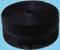 25 metros 1 '' 25 mm largeur coudre noir sur le crochet et boucle de ruban adhésif AA7312
