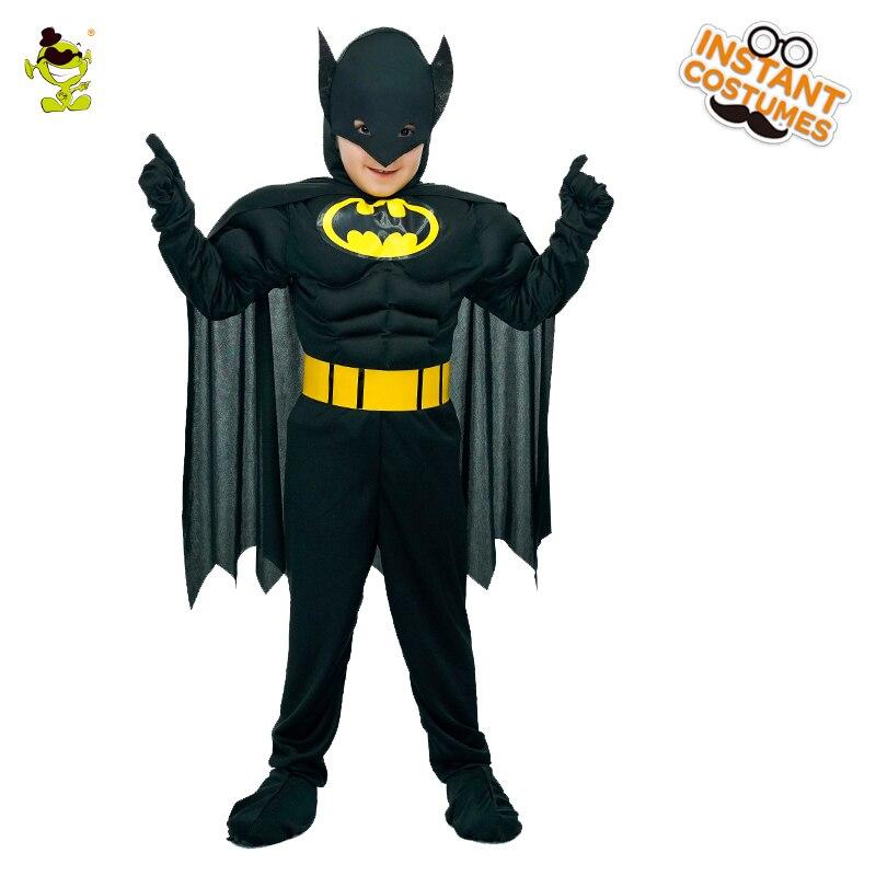 Músculo Batman trajes niños personaje de la película valiente superhéroe imitación fiesta de disfraces Cool Superman papel jugar vestido de lujo