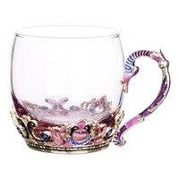 350ml creative enamel glass cute juice lemonade cup heat resistant tea mug gift cup