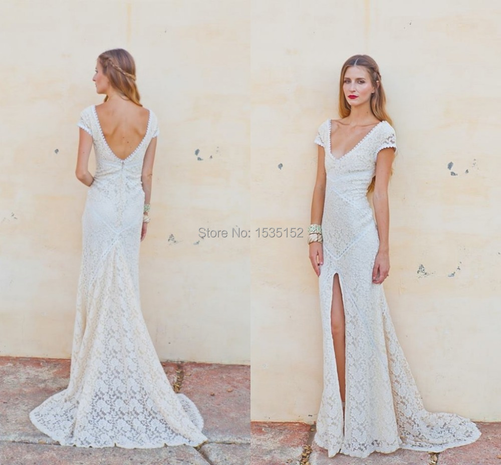 Vestidos Charming Casual Wedding Dress Anne Mariee Lace Bridal
