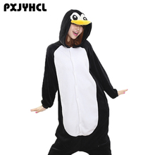 Взрослых Аниме Kigurumi комбинезоны милый черный пингвин костюм для женщин  мужчин забавные теплые животных пижамы Домашняя 8f12d0a11716a