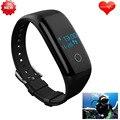 Atualização ip68 mergulho mergulho pulseira inteligente saúde monitor de freqüência cardíaca de fitness yoga/golf pk para ios/android/xiaomi mi banda 2 não