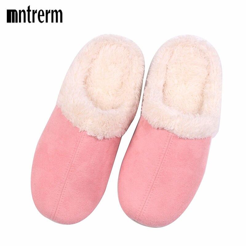 Aggressiv Neue Mode Winter Baumwolle Gefütterte Hausschuhe Liebhaber Männer Frauen Zu Hause Hausschuhe Übergroßen Slip-beständig Warme Hausschuhe Noch Nicht VulgäR