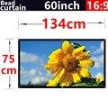 60 polegada 16:9 Bead cortina de tecido High-definition2.8 ganho de tela de projeção fixado na parede para todos os de baixa luminosidade led dlp projetores