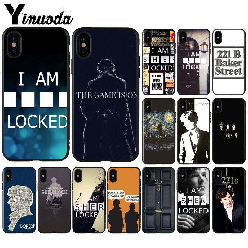 Yinuoda Sherlock Holmes Super Deal Mobile Case for iPhone i8 i7 i6 i6S Plus i5S iX iXR XS MAX Case Cover image