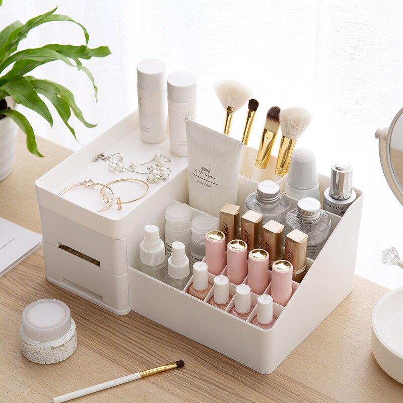 Boîte de rangement cosmétique coiffeuse rangement rack bureau tiroir multicolore rouge à lèvres rack