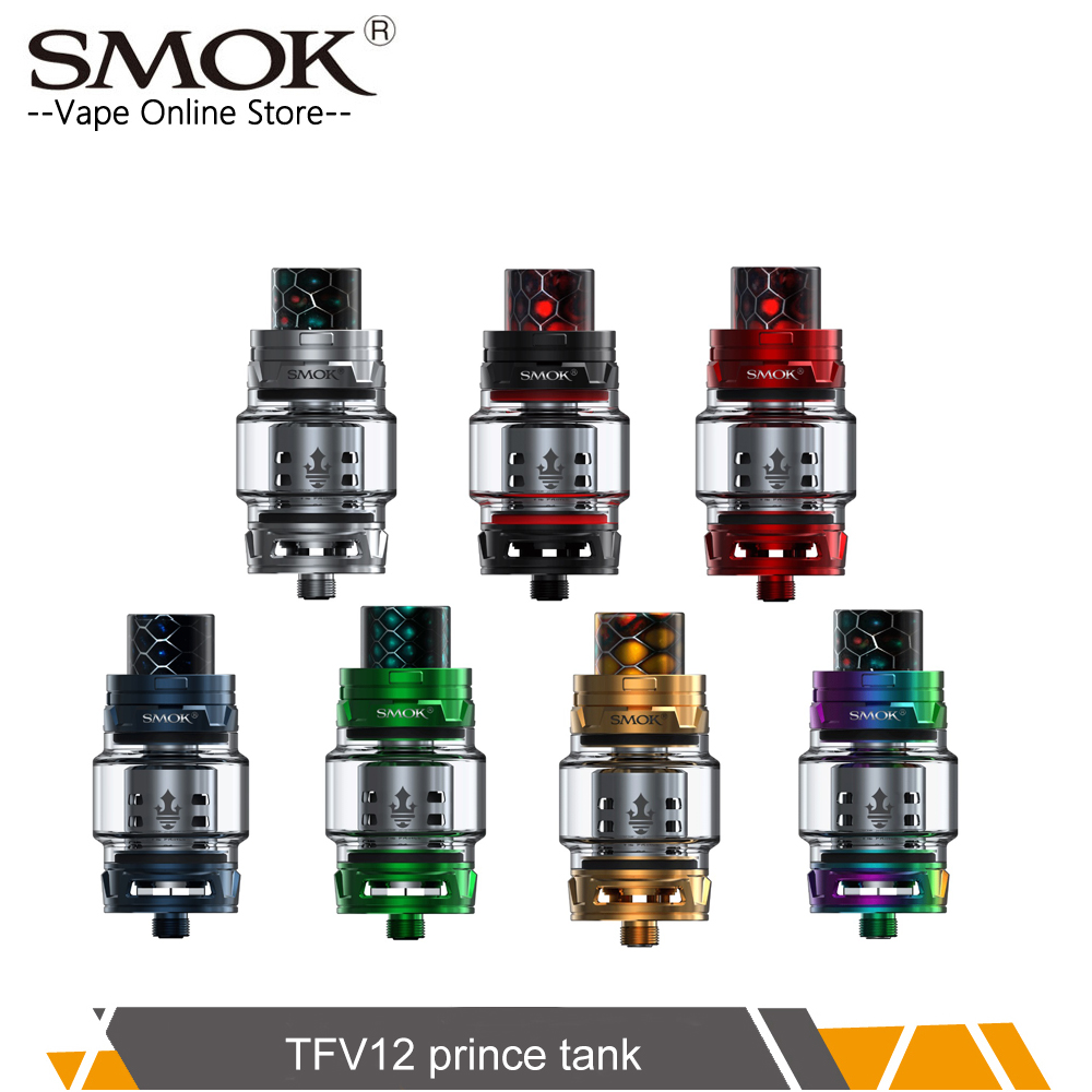 Original SMOK TFV12 PRINCE Atomizer with 8ml Capacity Top filling electronic cigarette TFV12 Prince tank VS SMOK TFV8 atomizer vapesoon b1 subohm tank atomizer 6ml 510 thread 0 4ohm q2 coil atomizer tank vs tfv8 baby tfv12 top filling 22mm
