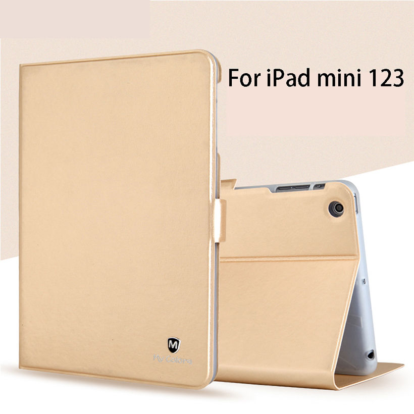 Luxury Silicone PU Leather Case For Apple ipad mini 1 2 3 Smart Case Cover Funda Tablet Flip Shell For iPad mini2 mini3 7.9'' nice soft silicone back magnetic smart pu leather case for apple 2017 ipad air 1 cover new slim thin flip tpu protective case