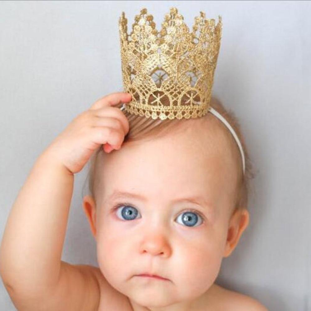 1 PC Girls Head Accessories Hairband Baby Shiny Cute Princess Children Tiara Hair Band Headband Kids Elastic Crown Headwear
