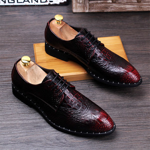 Fashion Men's Crocodile Grain